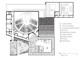 Theater Floor Plan Writers Theatre By Studio Gang Architects 23