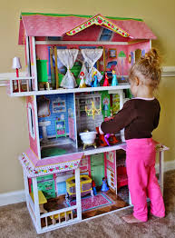 decorating wonderful large kidkraft dollhouse in triple tier