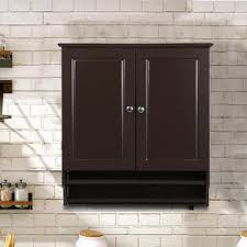 wall hung kitchen cabinets yaheetech wall mounted kitchen bathroom cabinet sears
