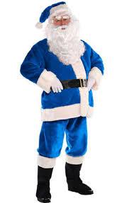 santa suit blue plush santa suit caufields