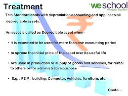 Ads Depreciation Table Accounting Standard 6 Depreciation Table Of Content Objective