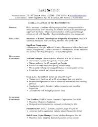 Chef Job Description Resume by General Manager Job Description Retail General Manager Job