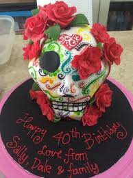 my brother in laws 40th skull birthday cake picture of buzz