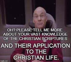 Please Tell Me More Meme - oh please tell me more about your vast knowledge of the christian