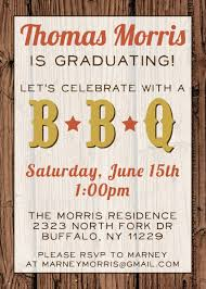 custom bbq graduation party invitation papier etc pinterest
