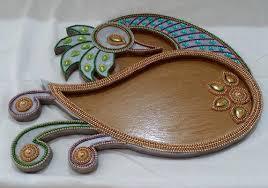 Plate Decoration For Engagement Engagement Ring Decoration Plate Wedding Items Shivam Digital