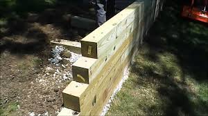 HOW TO Build A Timber Wall YouTube - Timber retaining wall design