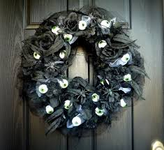 Black Halloween Wreath Crafty Sisters Eyeball Halloween Wreath