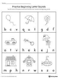 practice beginning letter sound worksheet myteachingstation com
