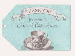 bridal tea party favors bridal shower favor tags blue and grey bridal tea favor tags