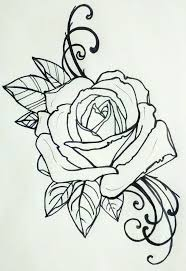 24 best traditional rose tattoo outline images on pinterest draw
