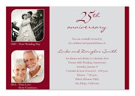 25th wedding anniversary invitations gangcraft net