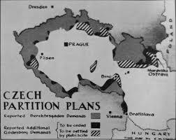 Czechoslovakia Map Map Depiction The Czech Partition Plans