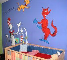 Dr Seuss Kids Room by Dr Seuss Nursery Decorating Ideas Cat In The Hat Theme Bedroom