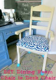 Build Dining Room Chairs Turn An Ordinary Dining Chair Into A Desk Chair With Casters