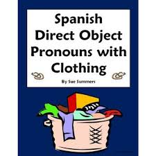 direct object pronouns sentences and clothing worksheet 2