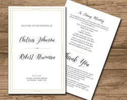 deco wedding program wedding program ceremony program printable files rustic
