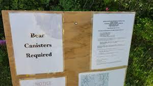 Shining Rock Wilderness Map Duck Notes Bear Canister In Shining Rock Wilderness