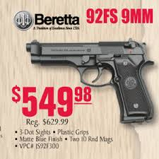 turners black friday beretta 92fs 9mm 10 rnds two mags 549 98 at turner u0027s