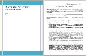 reseller contract template distribution agreement template free