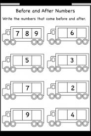 before and after numbers u2013 5 worksheets free printable