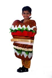 burger junk food fancy dress costume for kids