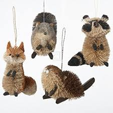buri woodland animal hanging ornament set of 4 home