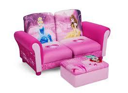 Childrens Ottoman by Delta Children Disney Princess 3 Pc Upholstered