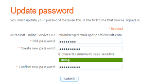 reset microsoft online services password reset user passwords in office 365