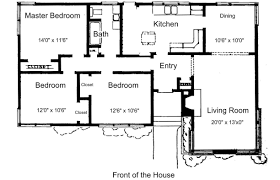 Floor Plan Bedroom House Plans Simple Three Room Map Trends Modern Small House Plan Map