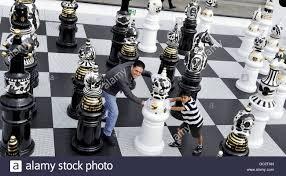 chess set designs giant chess set marks start of the london design festival stock