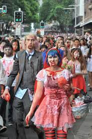 australians celebrate halloween with street parades and trick or