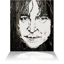 lennon woodcut by ronnie wood