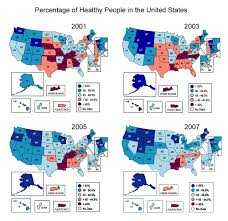 United States Map Activity by Physical Activity Indexmundi Blog