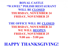 thanksgiving closed 2016
