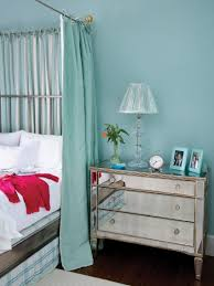 soft blue bedroom and white furniture set featuring modern