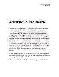 communications plan template om threesixty free tool