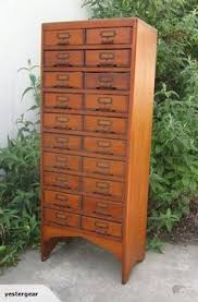 Multi Drawer Wooden Cabinet Antique 30 Drawer Oak Library Card File Cabinet 2 Pull Out
