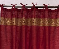 Sari Curtain Art Silk Curtains