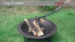 Fire Pit Logs by Handy Log Grabber By Premiere Fire Pits Youtube