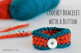 bracelet crochet pattern images Crochet a day crochet bracelet with a button make and takes jpg