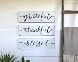 Wall Decor Living Room Blessed Sign Etsy