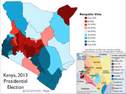 Map Election by Intense Ethnic Divisions In The 2013 Kenyan Election Geocurrents