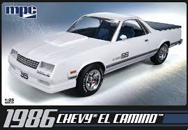 el camino amazon com mpc 1986 chevy el camino 1 25 scale model building kit
