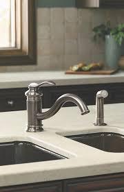 kohler faucet kitchen kohler k 12176 bn brushed nickel fairfax 1 5 gpm kitchen faucet with