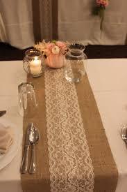 burlap wedding decorations sale 12 ft 12 x 144 burlap lace table runner wedding decor