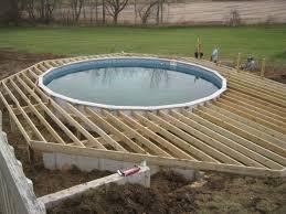 above ground pool wood deck kits swimming pool swimming pool