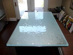 clear glass table top beautiful textured glass table top for kitchen and living room