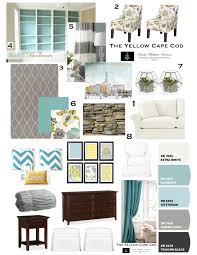 Yellow And Gray Bedroom by The Yellow Cape Cod Design Plan In Turquoise U0026 Yellow U0026 Gray With
