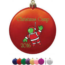 flat satin finish shatterproof ornament with your logo